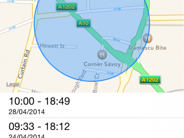 Apple iPhone Frequent locations