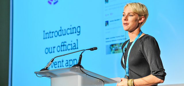 Clemi Hardie, Noodle Live introducing the Event App at BDA Live 2014