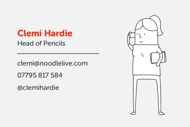 Clemi Hardie Noodle Live business card