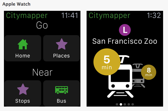 Citymapper Apple Watch apps for events professionals