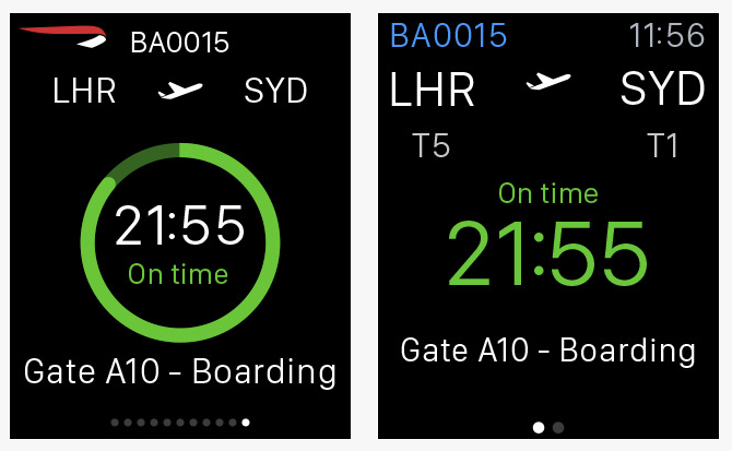British Airways Apple Watch apps for events professionals