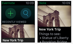 Evernote Apple Watch apps for events professionals