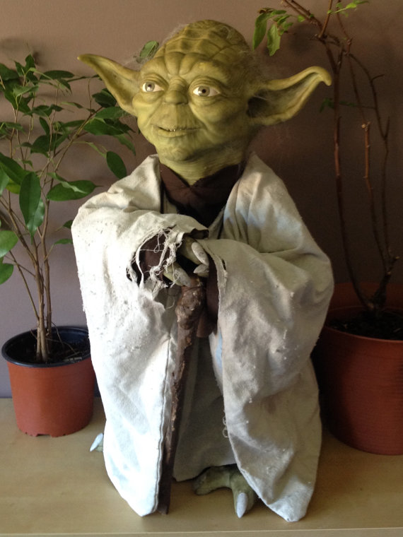 Life Size Yoda Model Halloween Geek Toys