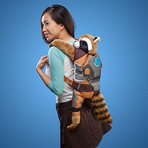 Raccoon Plush Backpack Buddy
