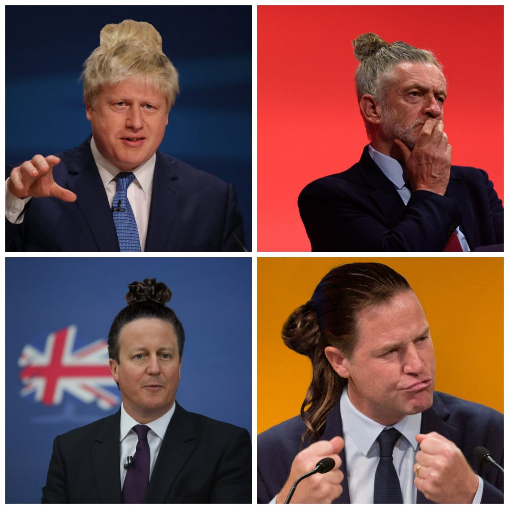 Politicians with man buns