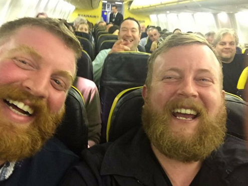 Man finds double on flight
