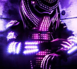 LED Predator Costume