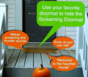Halloween screaming doormat
