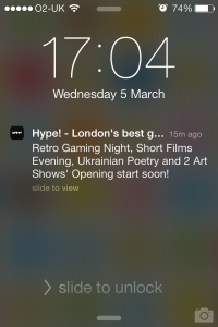 Noodle Live App of the Month - Hype - Push